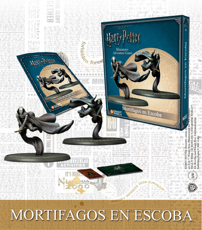DEATH EATERS ON BROOM (SPANISH)