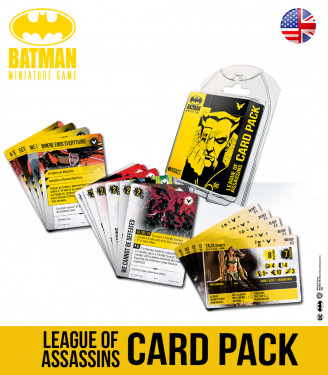 Batman Miniature Game League Of Assassins Card Pack English