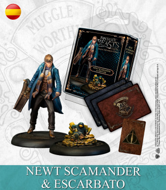 Harry Potter Miniature Game: Newton Scamander & Niffler English