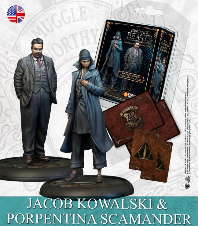 Harry Potter Miniatures Adventure Game: Tina Goldstein & Jacob Kowalski English