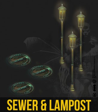 SEWER & LAMPPOST RESIN SET