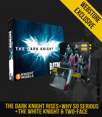 THE DARK KNIGHT RISES + JOKER HEATH LEDGER + WHITE KNIGHT & TWO FACES BUNDLE